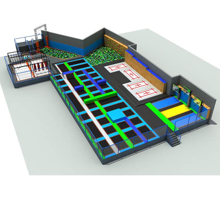 蹦床公园设计图
