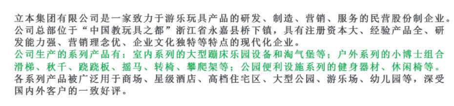 蹦床公园厂家简介